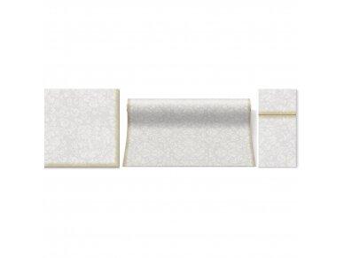 Servetėlė įrankiams balta Airlaid, Rococo white 2