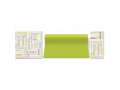 Servetėlė įrankiams žalia Airlaid, Italian food green 2