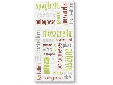 Servetėlė įrankiams žalia Airlaid, Italian food green