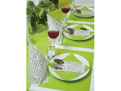 Servetėlė įrankiams žalia Airlaid, Italian food green 4