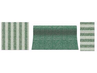 Servetėlė įrankiams žalia Airlaid, LINEN STRIPES green 2