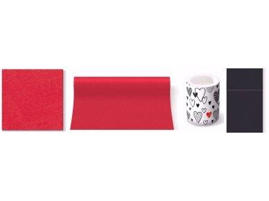 Servetėlė raudona Airlaid, red 4