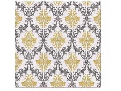 Servetėlės auksinė Airlaid, Royal ornament gold