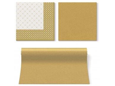 Servetėlės auksinė Airlaid, Subtle grid gold 2