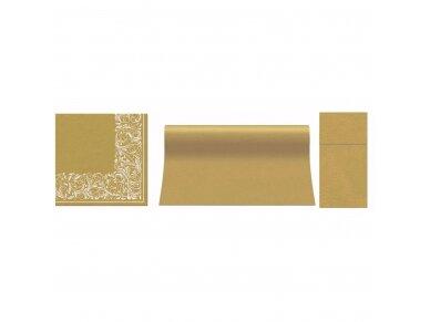 Servetėlės auksinės Airlaid, Elegant tangle 2