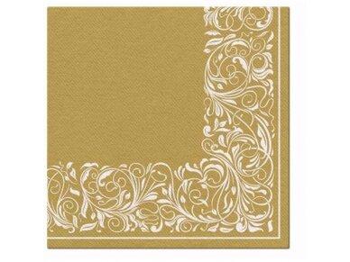 Servetėlės auksinės Airlaid, Elegant tangle