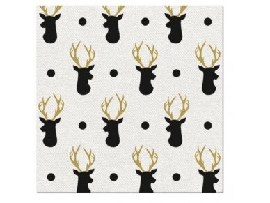 """Servetėlės """"Elniai"""" Airlaid, Deer pattern"""