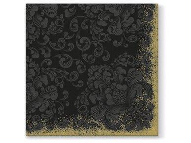 Servetėlės juodos Airlaid, Rococo black