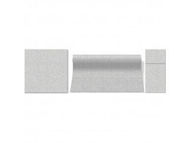 Servetėlės lino imitacijos pilkos Airlaid, Linen Structure grey 2