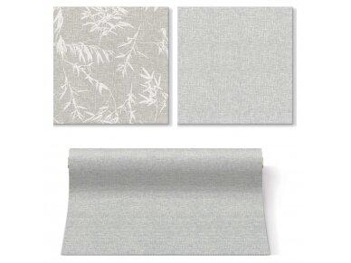 Servetėlės lino imitacijos pilkos Airlaid, Linen Structure grey 3