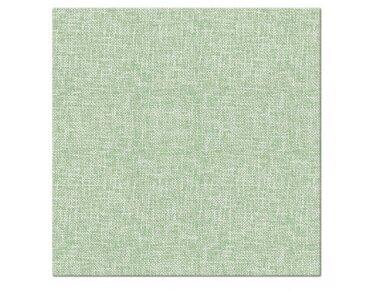 Servetėlės lino imitacijos šviesiai žalios Airlaid, Linen Structure light green