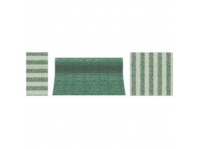 Servetėlės lino imitacijos žalios Airlaid, Linen Stripes green 2