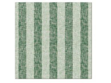 Servetėlės lino imitacijos žalios Airlaid, Linen Stripes green