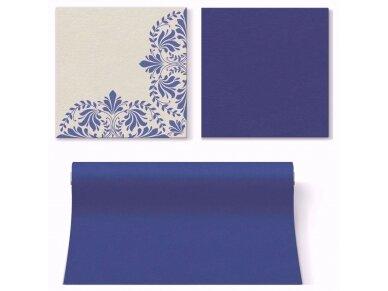 Servetėlės mėlynos Airlaid, IVY MOTIVE dark blue 2