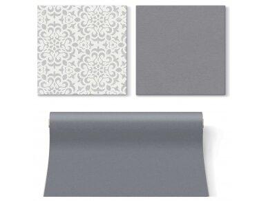 Servetėlės pilkos Airlaid, Ornament grey 3