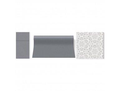 Servetėlės pilkos Airlaid, Ornament grey 4