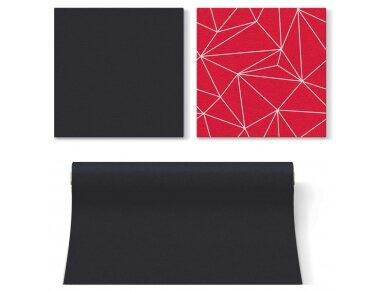 Servetėlės raudonos Airlaid, Geometric lines red 2