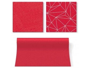 Servetėlės raudonos Airlaid, Geometric lines red 3