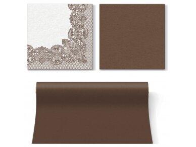 Servetėlės rudos Airlaid, Royal Lace brown 4