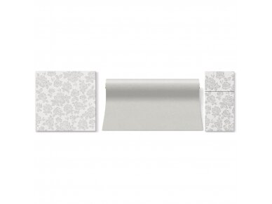 Servetėlės sidabrinės Airlaid, Subtle roses silver 2