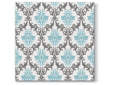 Servetėlės turkio Airlaid, Royal ornament turquoise