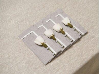 """Servetėlių rinkinys """"4 baltos rožės"""" 2"""