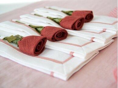 """Servetėlių rinkinys """"4 rudos rožės"""" 2"""