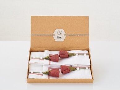 """Servetėlių rinkinys """"4 rudos rožės"""" 5"""