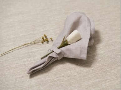"""Servetėlių rinkinys melsvas """"6 baltos rožės"""" 4"""