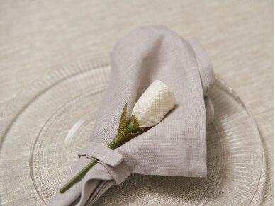 """Servetėlių rinkinys melsvas """"6 baltos rožės"""" 2"""
