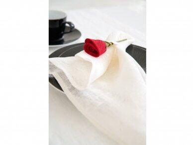 """Servetėlių rinkinys baltas """"6 raudonos rožės"""" 5"""