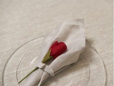 """Servetėlių rinkinys smėlinis """"6 raudonos rožės"""" 3"""