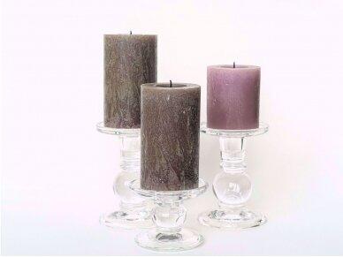 Skaidraus stiklo žvakidės
