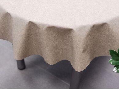 Staltiesė atspari dėmėms apvali pilka