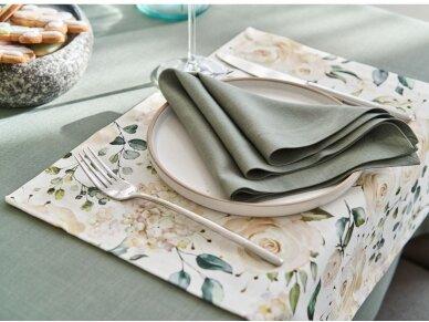 Staltiesė atspari dėmėms staltiesė LOFT, nendrių žalia 2