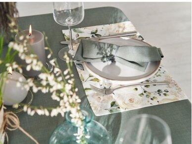 Staltiesė atspari dėmėms staltiesė LOFT, nendrių žalia 3