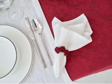 Staltiesė žakardinė raudona 4