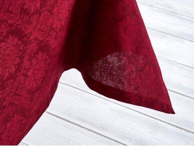 Staltiesė žakardinė raudona 2