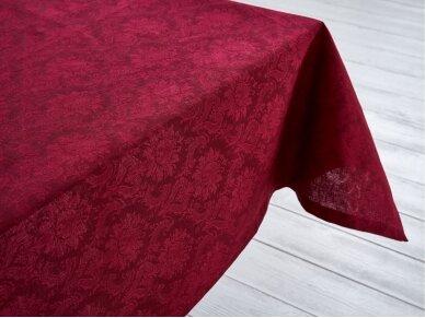 Staltiesė žakardinė raudona