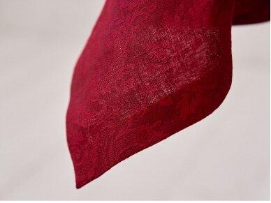 Staltiesė žakardinė raudona 3