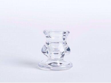 Stiklinė žvakidė, 6 cm