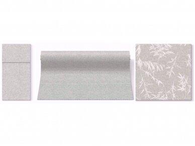 Takelis  lino struktūros pilkas Airlaid, linen structure grey 3