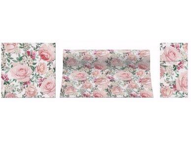 Takelis rausvas Airlaid, Gorgeous roses 2