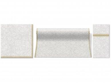 Takelis sidabrinis Airlaid, Rococo white 2