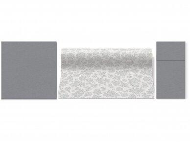 Takelis sidabrinis Airlaid, Subtle roses silver 2