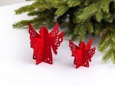 """Kalėdiniai stalo papuošimai """"Angelas"""", raudona"""
