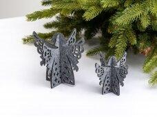 """Kalėdiniai stalo papuošimai """"Angelas"""", šviesiai pilka"""