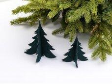 """Kalėdiniai stalo papuošimai """"Eglutė"""", tamsiai žalia"""
