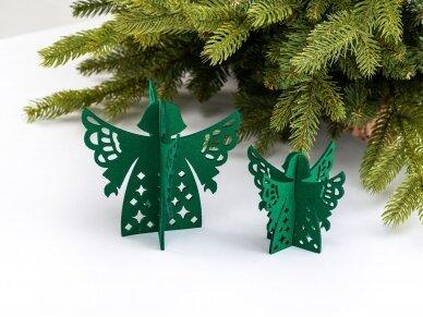 """Kalėdiniai stalo papuošimai """"Angelas"""", žalia"""