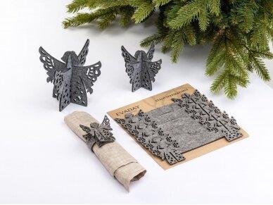 """Kalėdiniai stalo papuošimai """"Angelas"""", šviesiai pilka 2"""